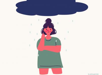 Viser person med depression