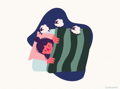 Viser person med søvnbesvær